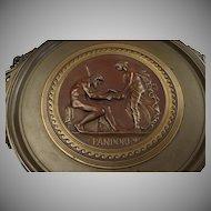 Antique French Bronze Tazza Depicting Pandora, by Ferdinand Levillain