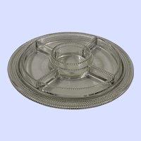 R. Lalique divided condiment dish