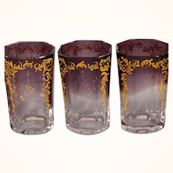 Set of 6 Moser glass cordials