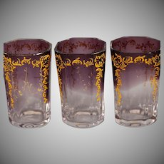 Set of 6 Moser glass cordials