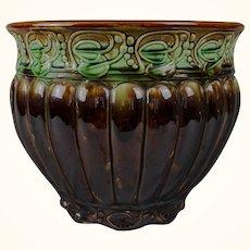 An Antique Lusterware Art Nouveau Majolica Jardiniere c.1890