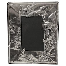 """Japanese motif sterling picture frame -  12 1/4"""" x 10 1/2"""""""