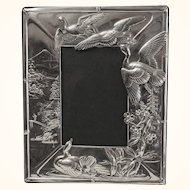 Japanese motif sterling picture frame