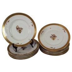 Set of 5 Royal Copenhagen soup bowls with underplates