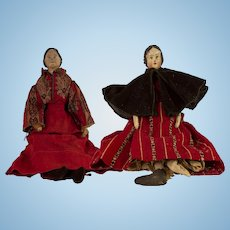 Two American mid- to late-19th century dolls