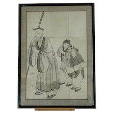 Japanese Edo period (Sumi-e) ink painting