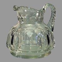 Late Georgian Melon Shaped Cut Glass Jug Ca. 1830