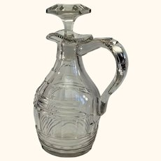 English or Irish Cut Glass George III stoppered claret jug