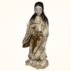 Japanese Kutani or Satsuma Figure of a Woman