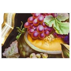 19th century Bohemian fruit plate