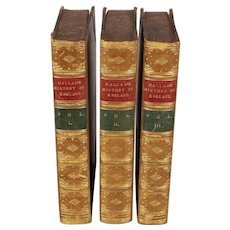 3 volumes: The Constitutional History of England by Henry Hallam, 1884