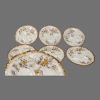 Haviland Limoges Oyster Plates Set of 6