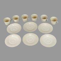 KPM demitasse cups and saucers set