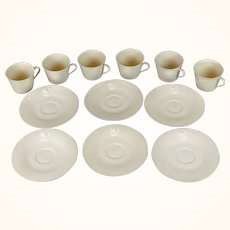 KPM demitasse cups and saucers set