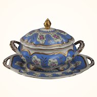 Limoges tureen, cover and underplate 19th c.