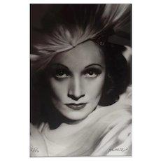 "Marlene Dietrich - iconic 1930s studio portrait- George Hurrell, 47""x35"""