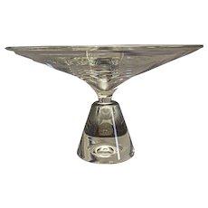 "Steuben crystal pedestal cake stand 11 1/2"" diameter"