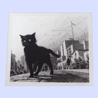 "The Black Kitten, lithograph, 18""x20"""