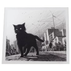 The Black Kitten, lithograph