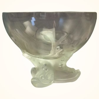 Lalique Dolphin-footed Center Bowl
