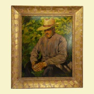Self-portrait by August Francois Pierre Gay 1940s