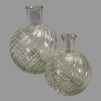 Two associated Baccarat decanters 9 x 6 1/2  & 7 1/2 x 3 1/2 inches