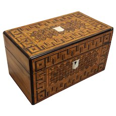 English Regency marquetry box