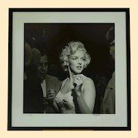 "Marilyn Monroe 36""x36"" movie premiere candid photo signed by Murray Garrett"