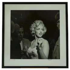 "Marilyn Monroe 36""x36"" movie premiere candid photo signed by Murray Garrett"