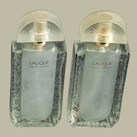 """Lalique cologne and parfum bottles -set of 6 - 6"""" x 2 1/2"""" x 1"""""""