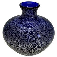 "Silver fleck Murano vase: AVeM or Barovier - 7 1/2"" x 6 3/4"""
