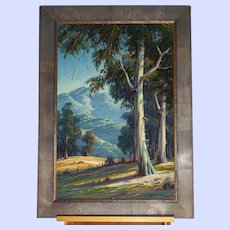 "Paul Grimm-California landscape painting-""Friendly Trees"""