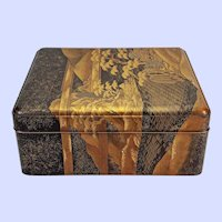 "Large Japanese lacquer document box - Edo or Meiji, 16.75"" x 14"" x 7"""