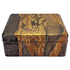 """Large Japanese lacquer document box - Edo or Meiji, 16.75"""" x 14"""" x 7"""""""
