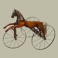 """Child's velocipede 1860-1880, 30"""" x 34"""" x 20"""""""