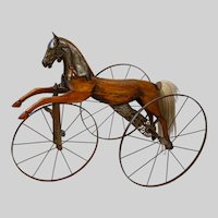 "Child's velocipede 1860-1880, 30"" x 34"" x 20"""