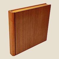 Fine Italian Pinetti wood & leather stationary box