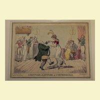 "Satirical political cartoon ""Latitude & Longitude"" George Cruikshank 1813"