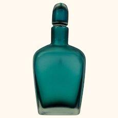 Venini Italian Murano inciso glass scent bottle