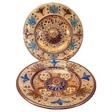 Two Hispano style  English lustreware chargers