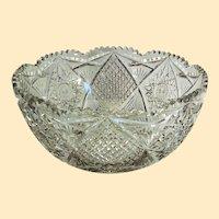 "American Brilliant Period punch bowl - 14 1/4"" diameter x 7"" high"