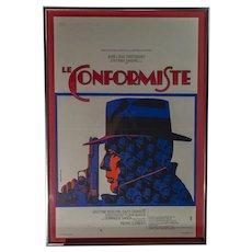 "Originally Italian  1970 French Release Film Poster ""Le Conformiste"" (The Conformist)"