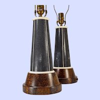 "Pair ""Lighthouse"" lamps in the style of Karl Springer"