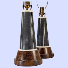 """Pair """"Lighthouse"""" lamps in the style of Karl Springer"""