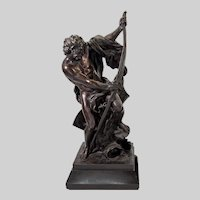Patinated bronze figure of an heroic archer 19th c.