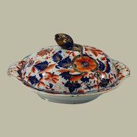Early Mason's Patent Ironstone covered vegetable dish -around 1815