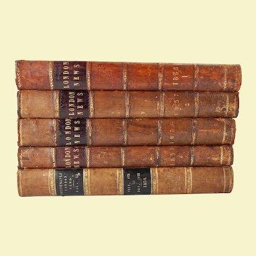 """Illustrated London News"", five volumes, 1854-1858"