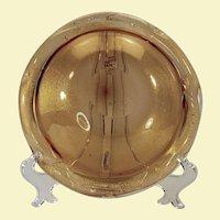 Venetian Murano glass gold fleck bowl