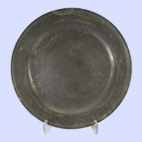 Very Large European marked pewter charger