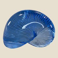 Baccarat Blue Crystal Nautilus Paperweight